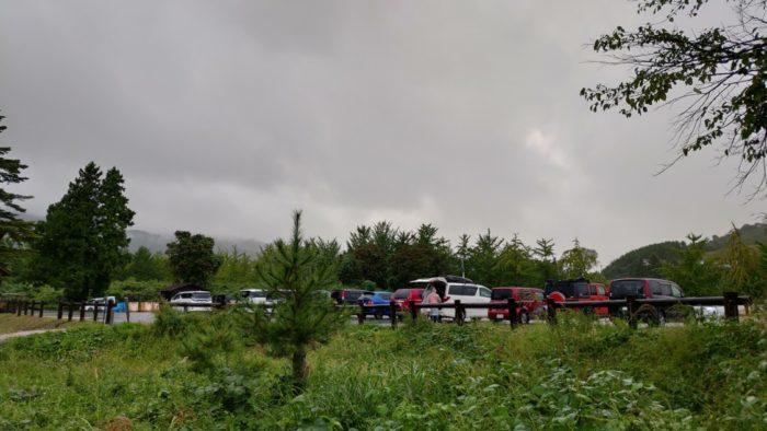2020-09-26神鍋高原キャンプ場 駐車場