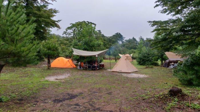 2020-09-26神鍋高原キャンプ場 サイトレイアウト