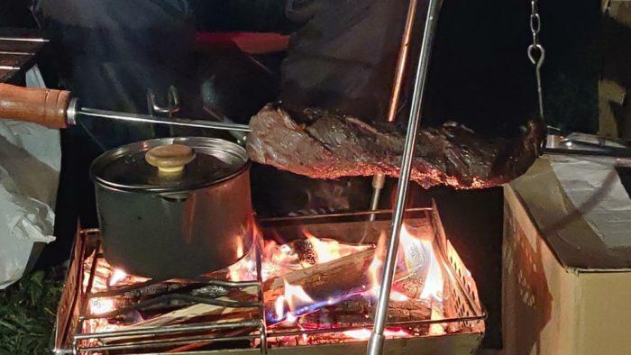 2020-09-26神鍋高原キャンプ場 塊肉