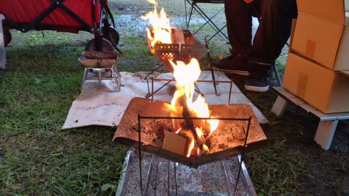 2020-09-27 神鍋高原キャンプ場 焚き火