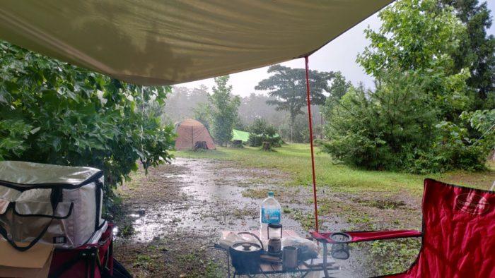 2020-09-27 神鍋高原キャンプ場 朝も雨