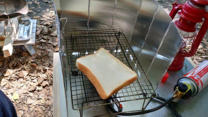 ガスコンロでトースト
