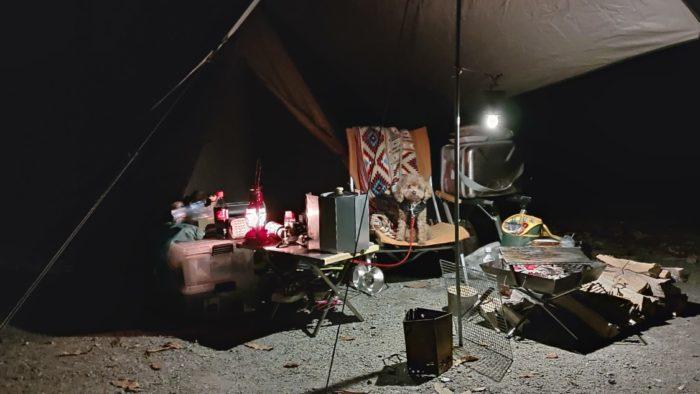 洞川キャンプ場 ソロ設営