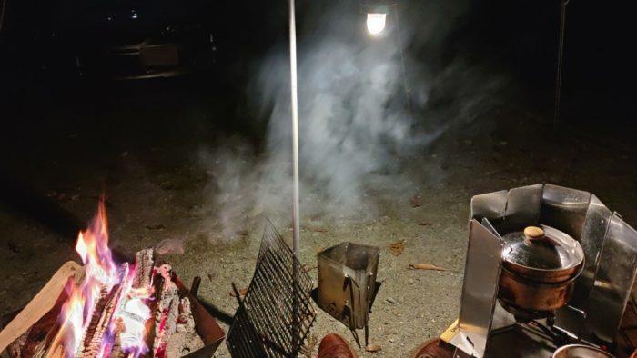 洞川キャンプ場 真っ暗なオートサイト