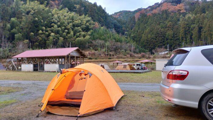 毛原オートキャンプ場 テントサイト