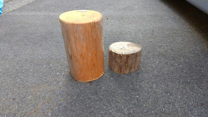 峠の100円店 変な木材屋薪割り台