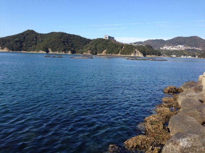 2014じゃのひれ元旦キャンプ 穏やかな海
