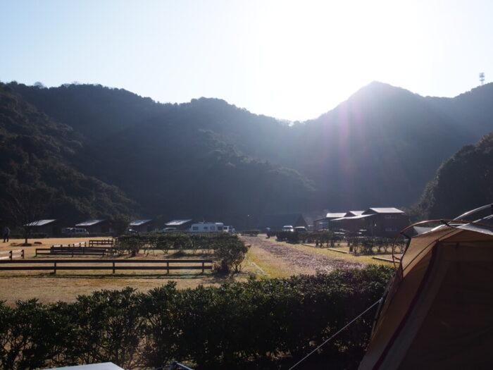 2014じゃのひれ元旦キャンプ 山からの朝日