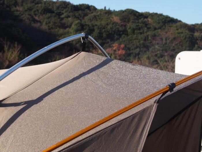 2014じゃのひれ元旦キャンプ テントの霜